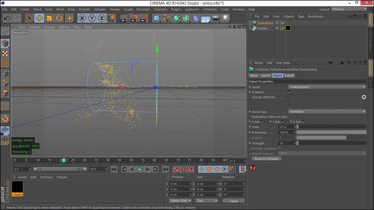 آموزش کامل و فارسی پلاگین X-Particles در Cinema 4d