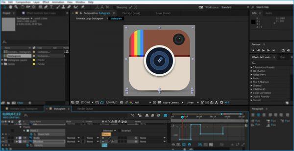 آموزش انیمیت لوگو در نرم افزار افتر افکت