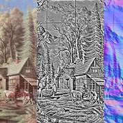 15 Framed Tiles Nature
