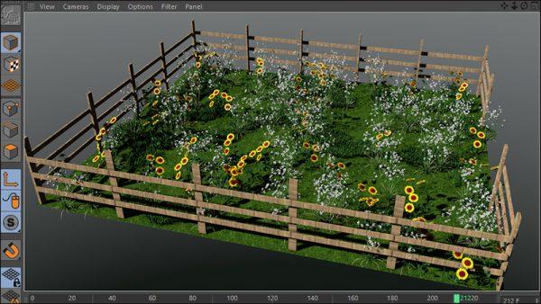 آموزش فارسی مدلسازی درخت و گل در Cinema 4d