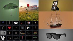 دانلود انواع مدل سه بعدی موزیک ویدیو برای پلاگین Element 3d