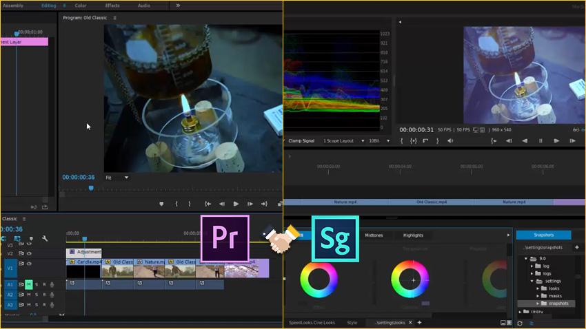 آموزش ارتباط بین نرم افزار SpeedGrade و Premiere Pro