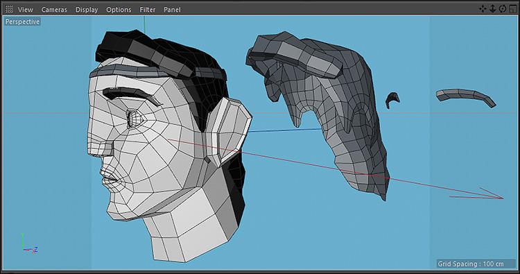 آموزش فارسی مدلسازی موی کاراکتر در نرم افزار Cinema 4d