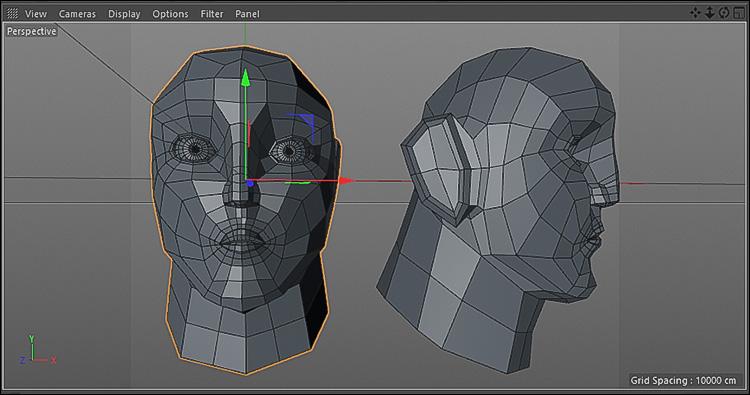 آموزش مدلسازی سرکاراکتر در نرم افزار Cinema 4d