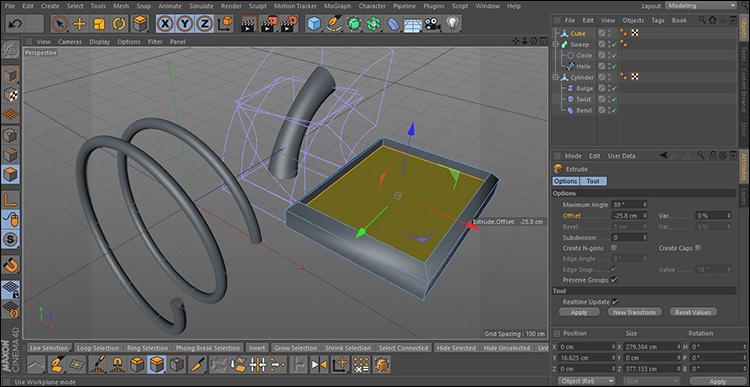 آموزش مقدماتی مدلسازی در نرم افزار Cinema 4d