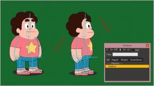 آموزش چرخش صورت و بدن در نرم افزار Anime Studio