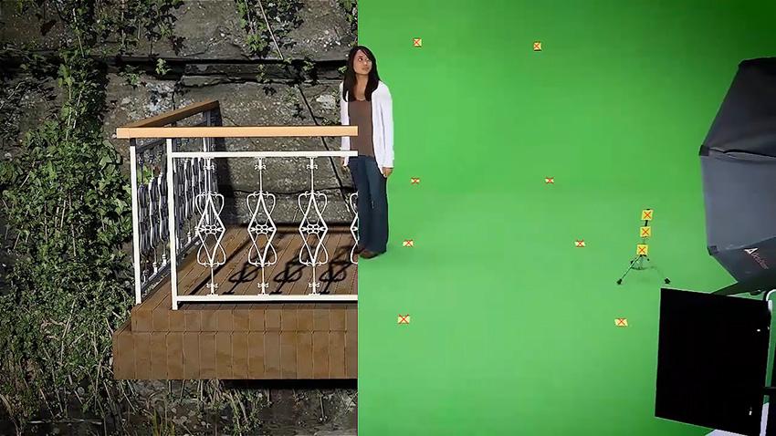 آموزش حرکت دوربین داخله پرده سبز در افتر افکت