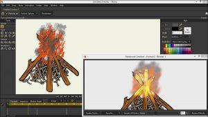 آموزش ساخت آتش در نرم افزار Anime Studio - Moho