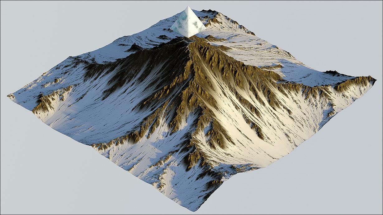 آموزش ساخت کوه برف در World Machine