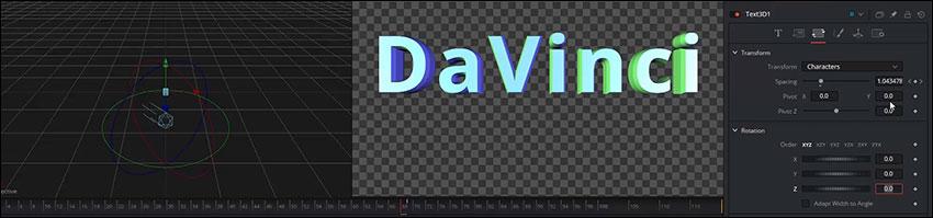 آموزش ساخت نوشته سه بعدی در Fusion نرم افزار داوینچی