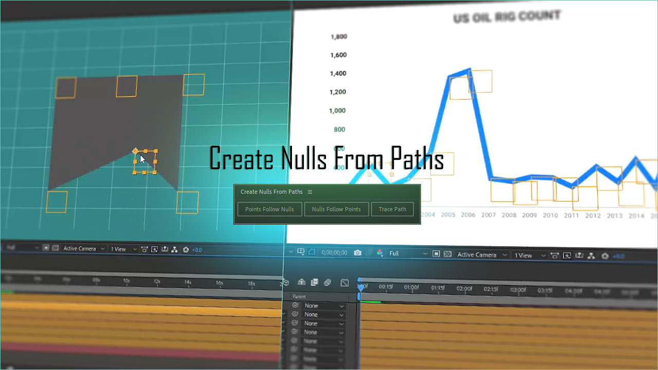 آموزش فارسی Create Nulls From Paths در نرم افزار افتر افکت