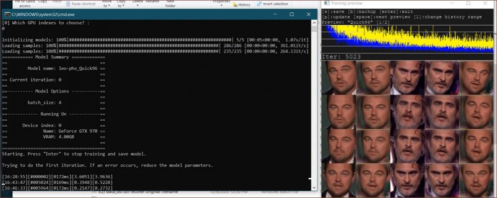 آموزش ترکیب دوتا صورت در نرم افزار DeepFaceLab