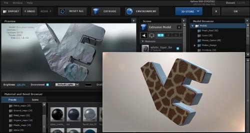 آموزش ساخت لوگوی سه بعدی در پلاگین Element 3d