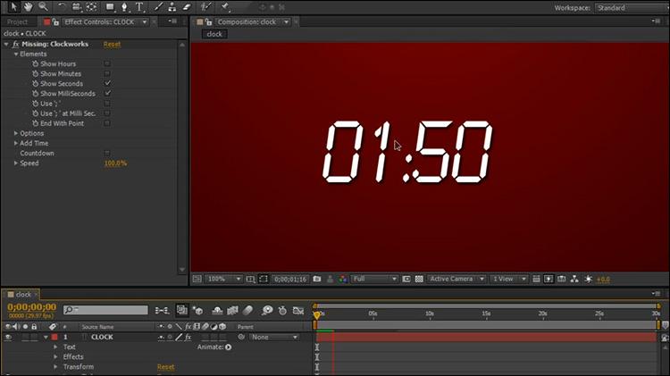 آموزش ساخت زمان ویدیو در افتر افکت