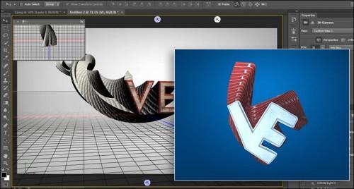 آموزش ساخت نوشته سه بعدی در Photoshop