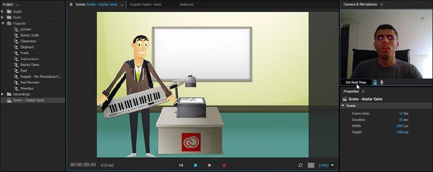 آموزش فارسی مقدماتی تا پیشرفته نرم افزار Character Animator