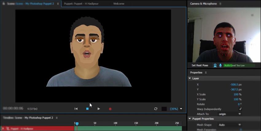 آموزش فارسی نرم افزار Character Animator برای انیمیت کاراکتر دو بعدی