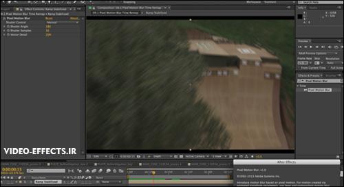 آموزش Pixel Motion Blur در after effects