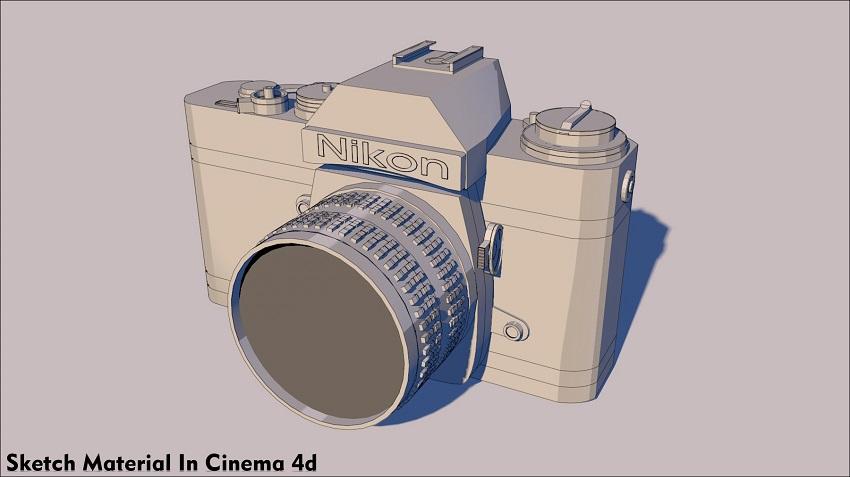 sketch material in cinema 4d