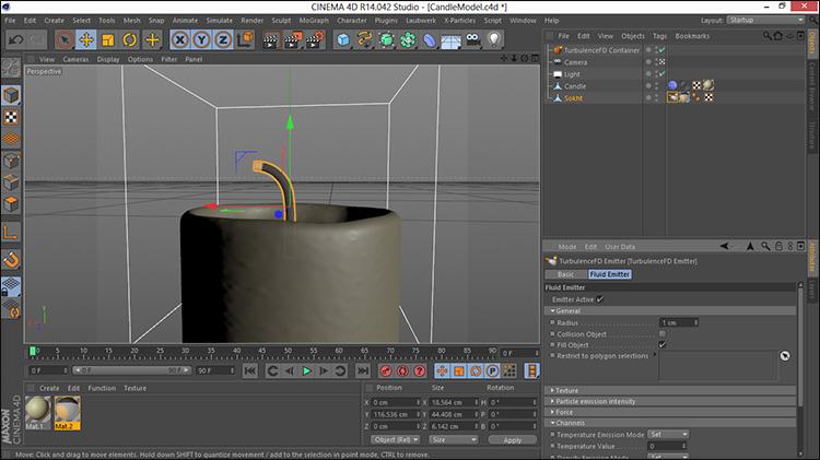 آموزش ساخت شعله شمع در 3d max