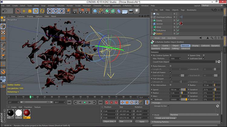 آموزش ایجاد خون سه بعدی در افتر افکت و Cinema 4d