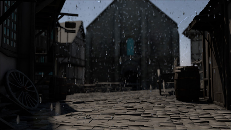 اموزش شبیه سازی بارش باران در افتر افکت