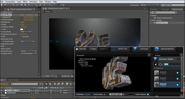 آموزش ساخت نوشته سه بعدی در Element 3d