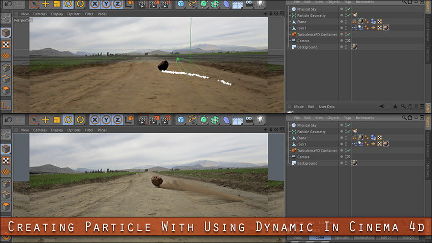 Creating Particle With Using Dynamic In Cinema 4d