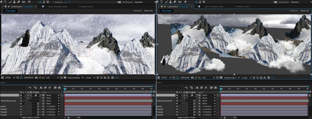 آموزش ساخت انیمیشن سه بعدی پرواز عقاب در افتر افکت