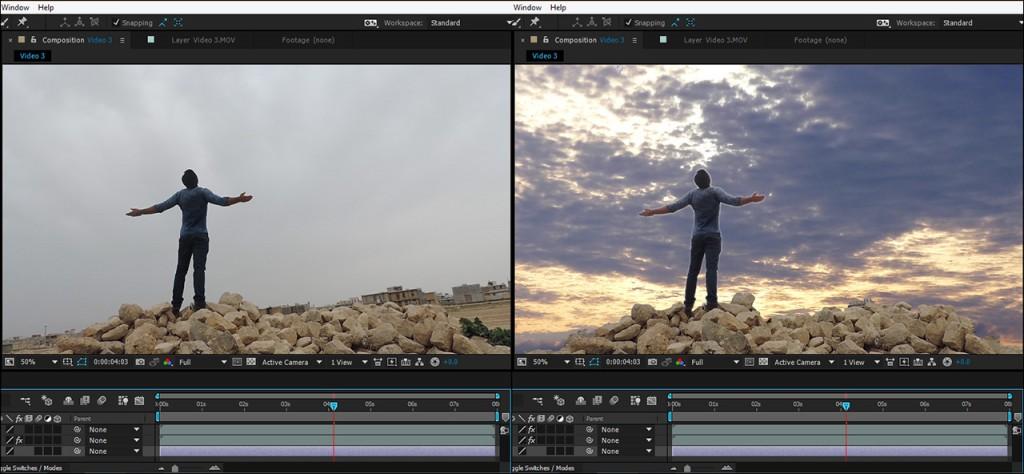 آموزش حذف آسمان ویدیو در نرم افزار افتر افکت
