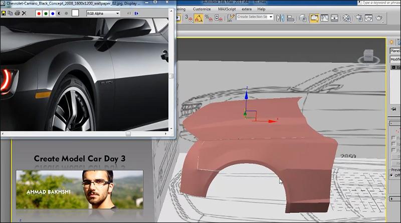 فصل سوم ساخت ماشین در 3d max