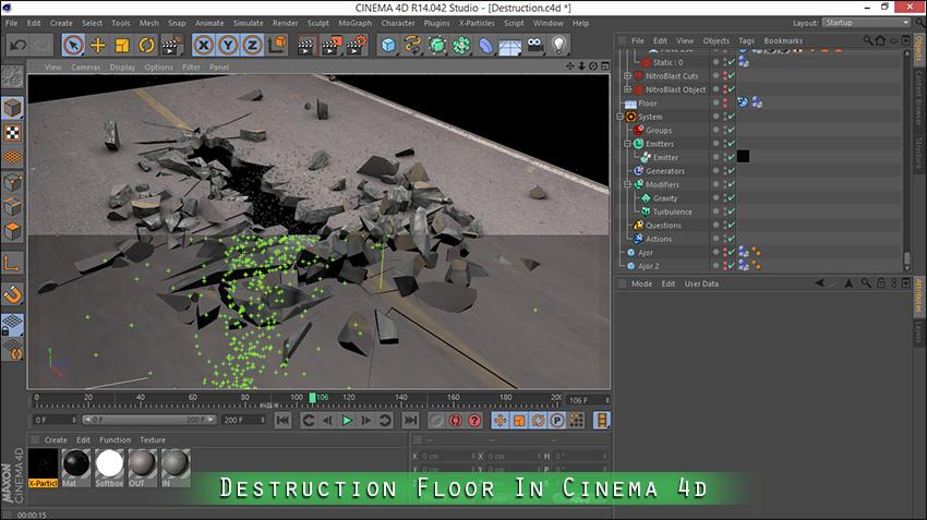 آموزش تخریب زمین و خانه در نرم افزار سه بعدی