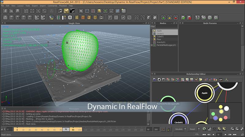 آموزش فارسی نرم افزار RealFlow در Cinema 4d و 3d Max