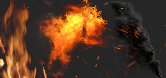 دانلود انواع فوتیج دود و آتش برای مت پینتینگ