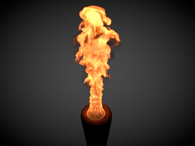 آموزش ایجاد آتش سه بعدی