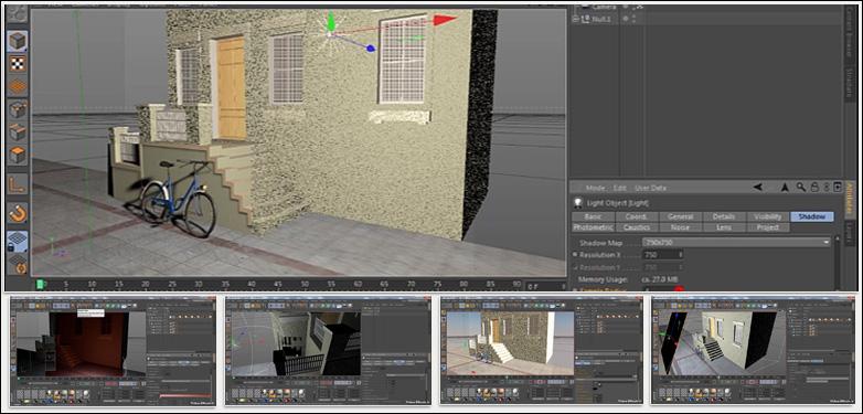 آموزش کامل نورپردازی در نرم افزار Cinema 4d