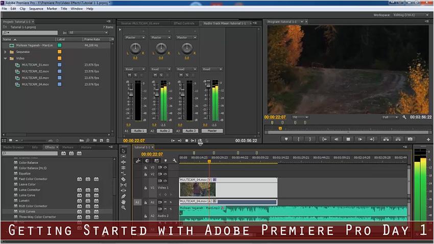 آموزش مقدماتی تا پیشرفته نرم افزار Adobe Premiere Pro