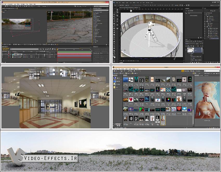 آموزش ساخت عکس Panorama در فتوشاپ