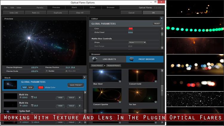 آموزش کامل پلاگین Optical Flares