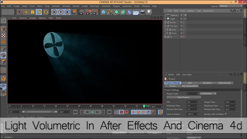 Light Volumetric cinema 4d - ساخت نور حجمی در نرم افزار Cinema 4d