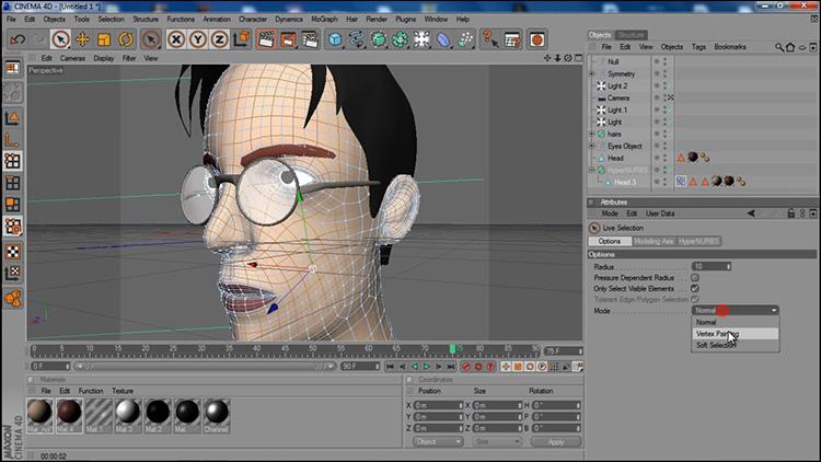آموزش ساخت صورت کاراکتر در Cinema 4d