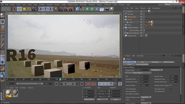 آموزش فارسی ابزار Motion Tracker در Cinema 4d