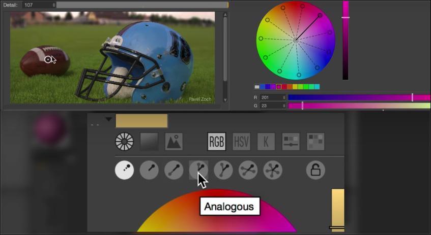 New Color Chooser Cinema 4d R17
