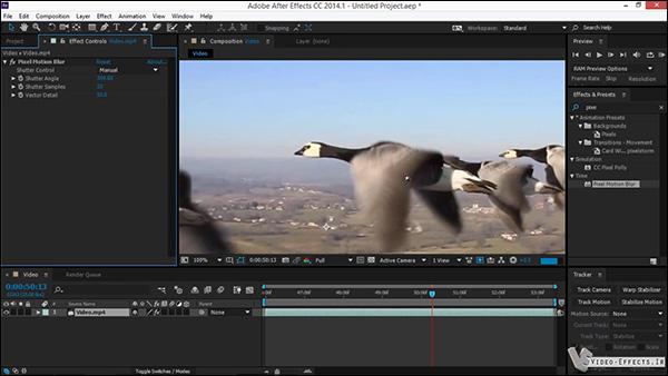آموزش فارسی Pixel Motion Blur در افتر افکت