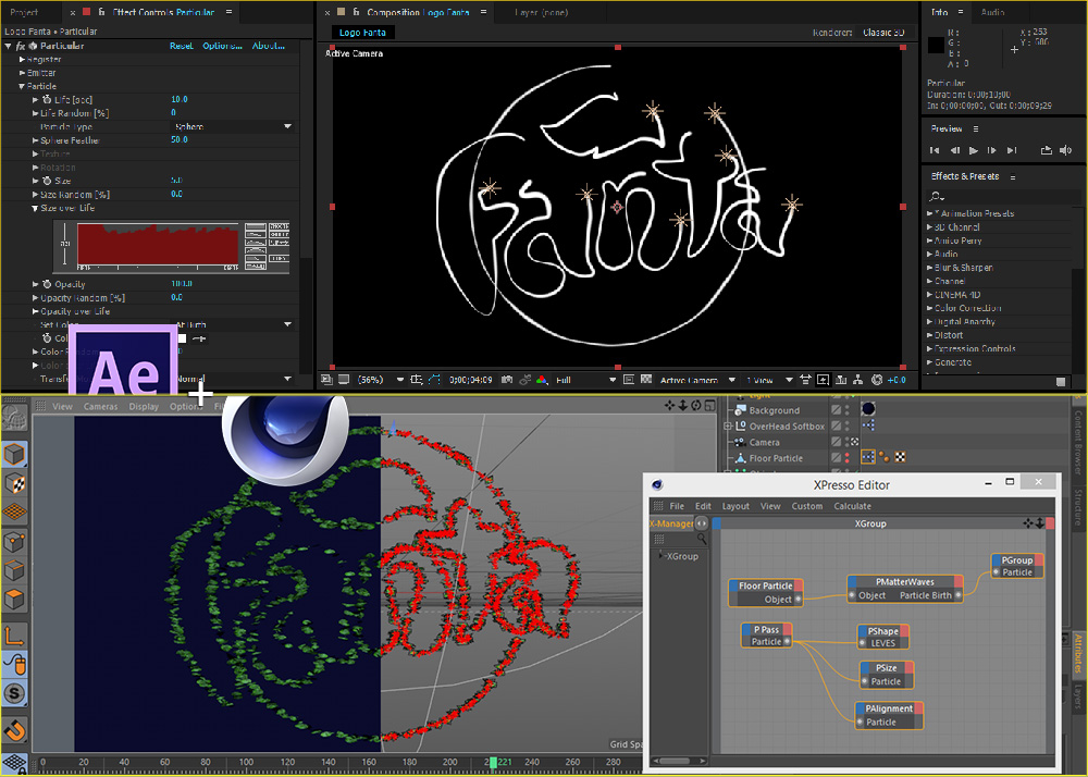 آموزش ساخت لوگوی سه بعدی در افتر افکت و Cinema 4d