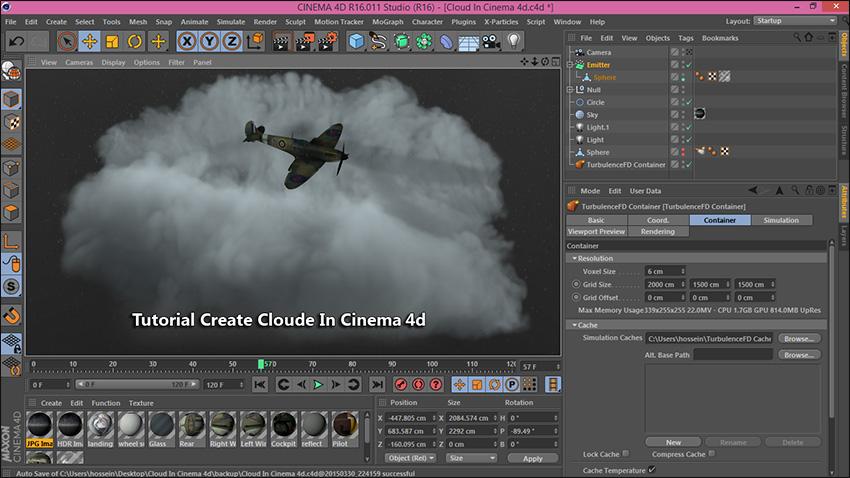 آموزش شبیه سازی ساخت ابر در Cinema 4d  افتر افکت