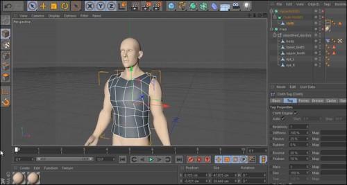 آموزش ساخت لباس مدل سه بعدی در Cinema 4d