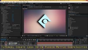 Tutorial Create Logo 3d In Plugin Mettle ShapeShifter