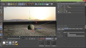 آموزش فرو رفتن زمین در نرم افزار Cinema 4d