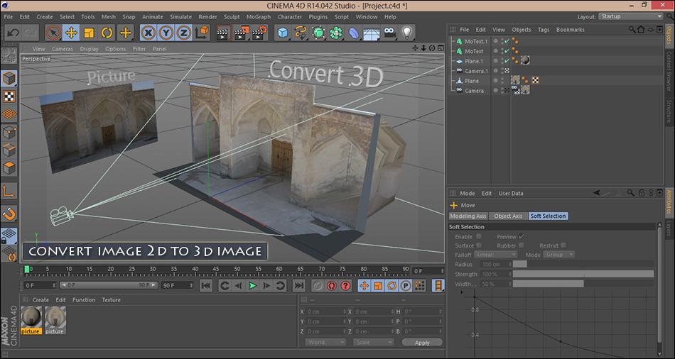 convert 2d image to 3d image